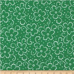 Daisy Floral Green/White