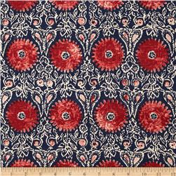 Duralee Riya Blend Red/Blue