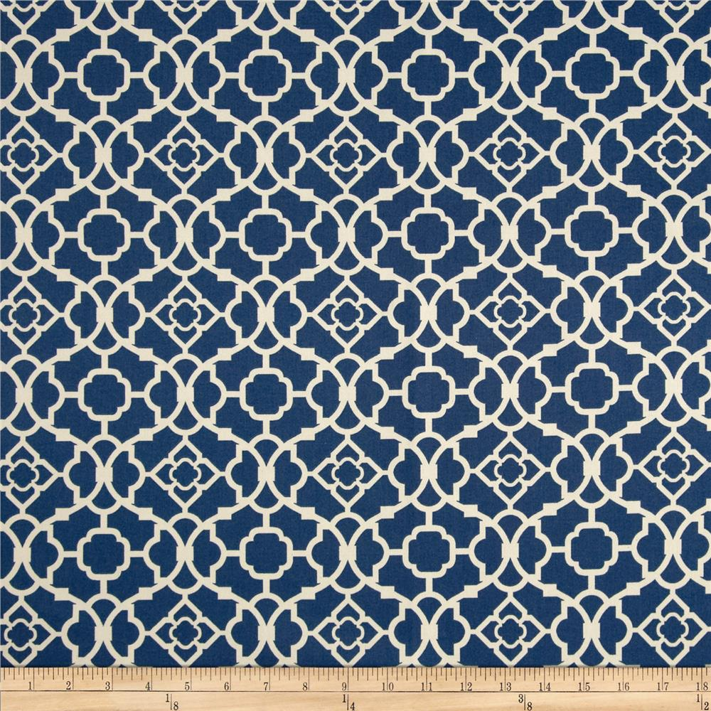 good Waverly Lovely Lattice Curtain Part - 17: Waverly Lovely Lattice Lapis Sateen - Discount Designer Fabric - Fabric.com
