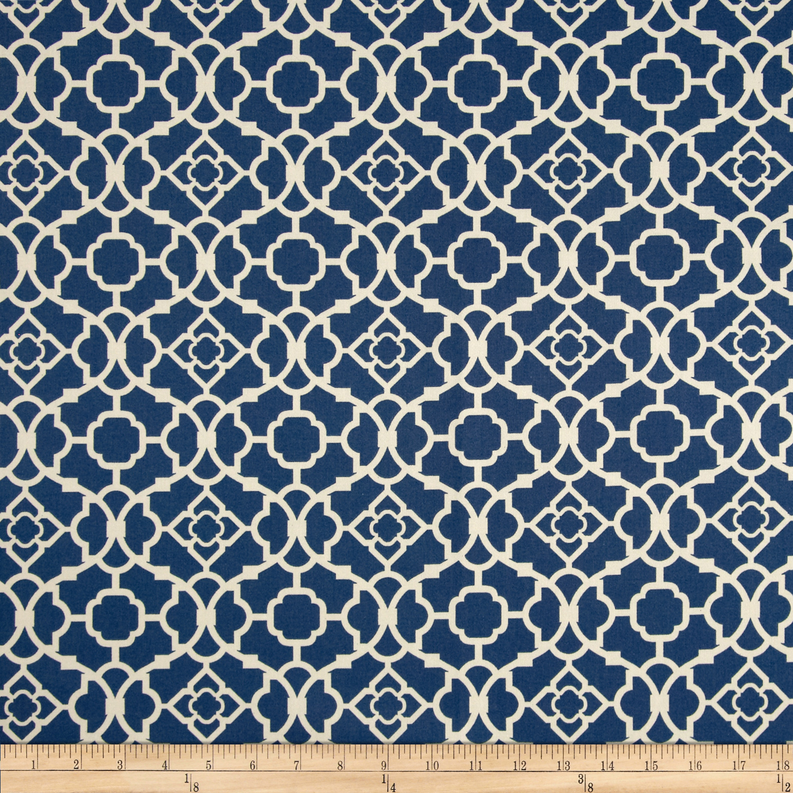 Waverly Lovely Lattice Sateen Lapis Fabric
