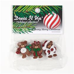 Dress It Up Embellishment A Beary Merry Christmas