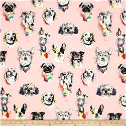 Bow Wow Wow Dog Portaits Pink