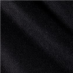 Wool Blend Melton Fancy Solid Black