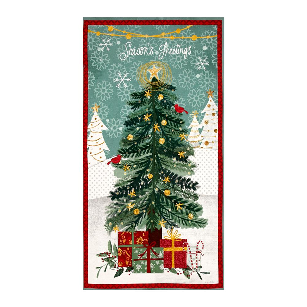 """Frosted Holiday Large 23"""" Panel Multi"""