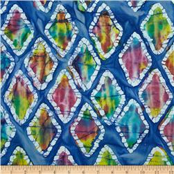 Indian Batiks Diamond Blue
