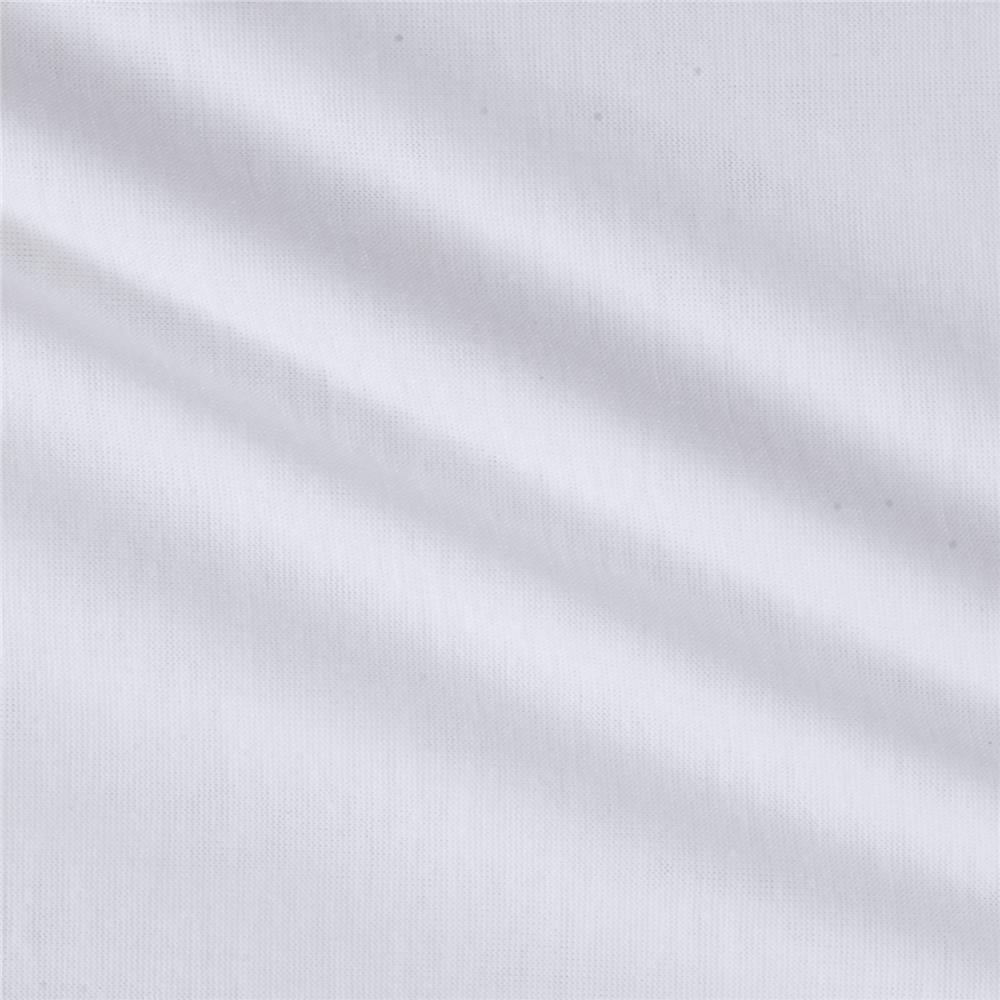 Soft Spun Poly Jersey Knit White PFP