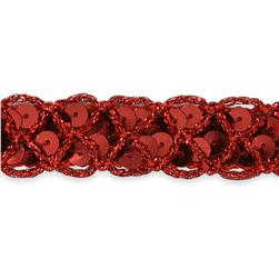 "3/4"" Christina Braided Sequin Trim Roll Red"
