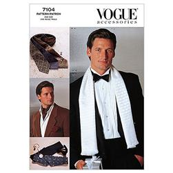 Vogue Men's Accessories Pattern V7104 Size OSZ