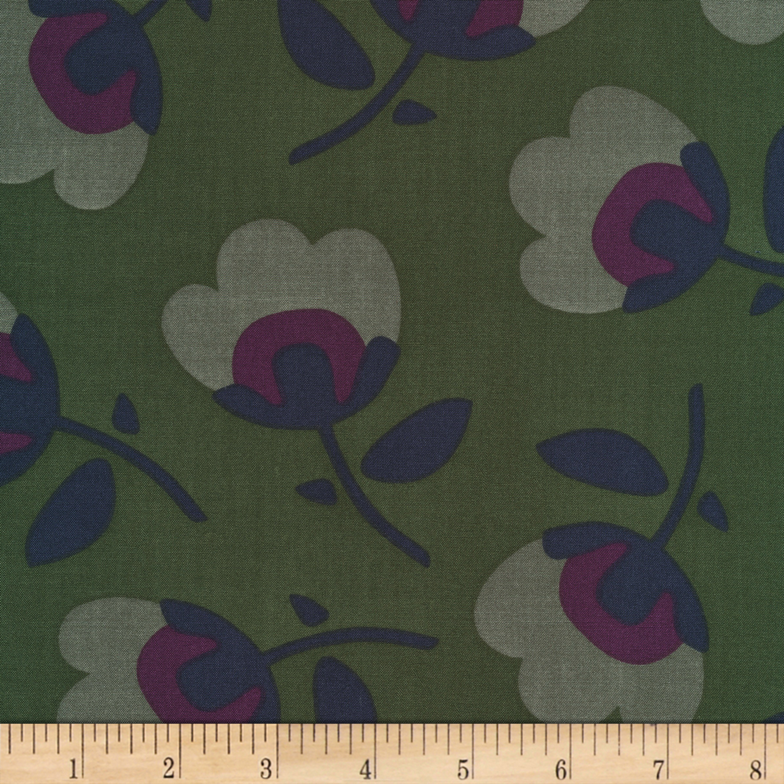 Cloud9 Fabrics Business Class Rayon Challis Senator Green
