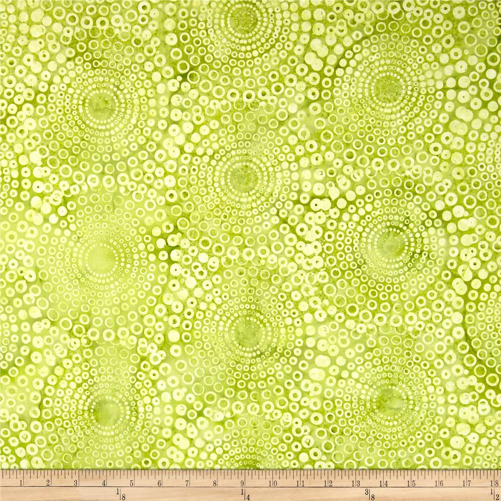 Bali Batiks Handpaints Circle Bursts Watercress