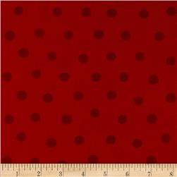 Moda Beary Happy Birthday Dots Tonal Red