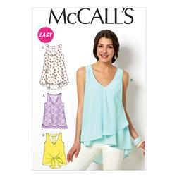 McCall's Misses' Tops and Tunics Pattern M6960 Size 0Y0
