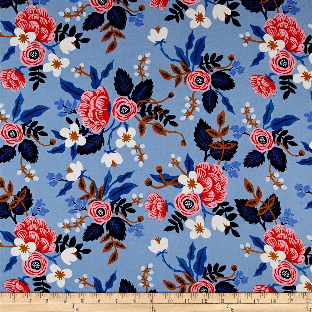 Cotton steel rifle paper co les fleurs rayon challis for Apparel fabric