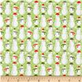 Riley Blake A Merry Little Flannel Merry Snowman Green