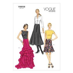 Vogue Misses' Skirt Pattern V8858 Size A50