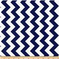 Riley Blake Laminated Cotton Medium Chevron Navy