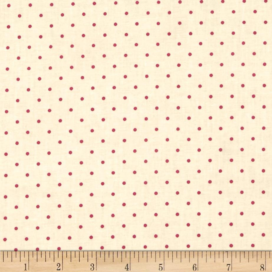 Home Essentials Dots White/Raspberry