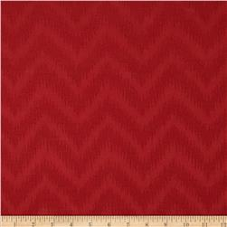 Waverly Peaks Solid Chevron Damask Ruby