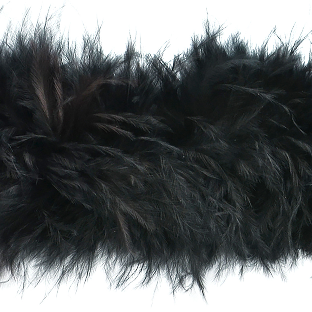 1930s Outfit Ideas for Women Marabou Feather Boa Trim Black Precut 10 Yard $36.54 AT vintagedancer.com