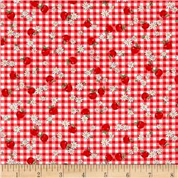 Dreaming Doll Gingham Apples Red
