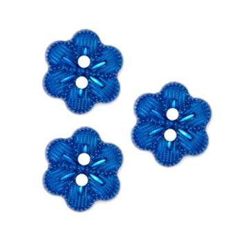 Novelty Button 5/8'' Beaded Flower Royal