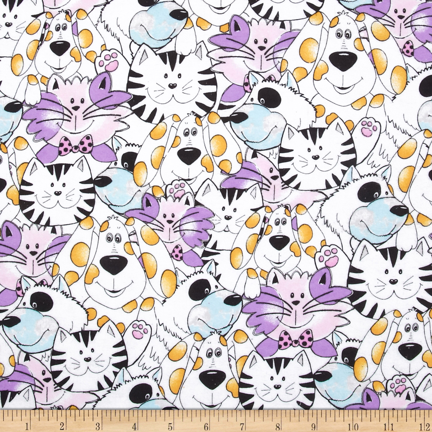 Flannel Dogs & Cats Multi Fabric