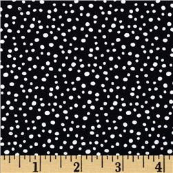 Essentials Petite Dot Black White Fabric