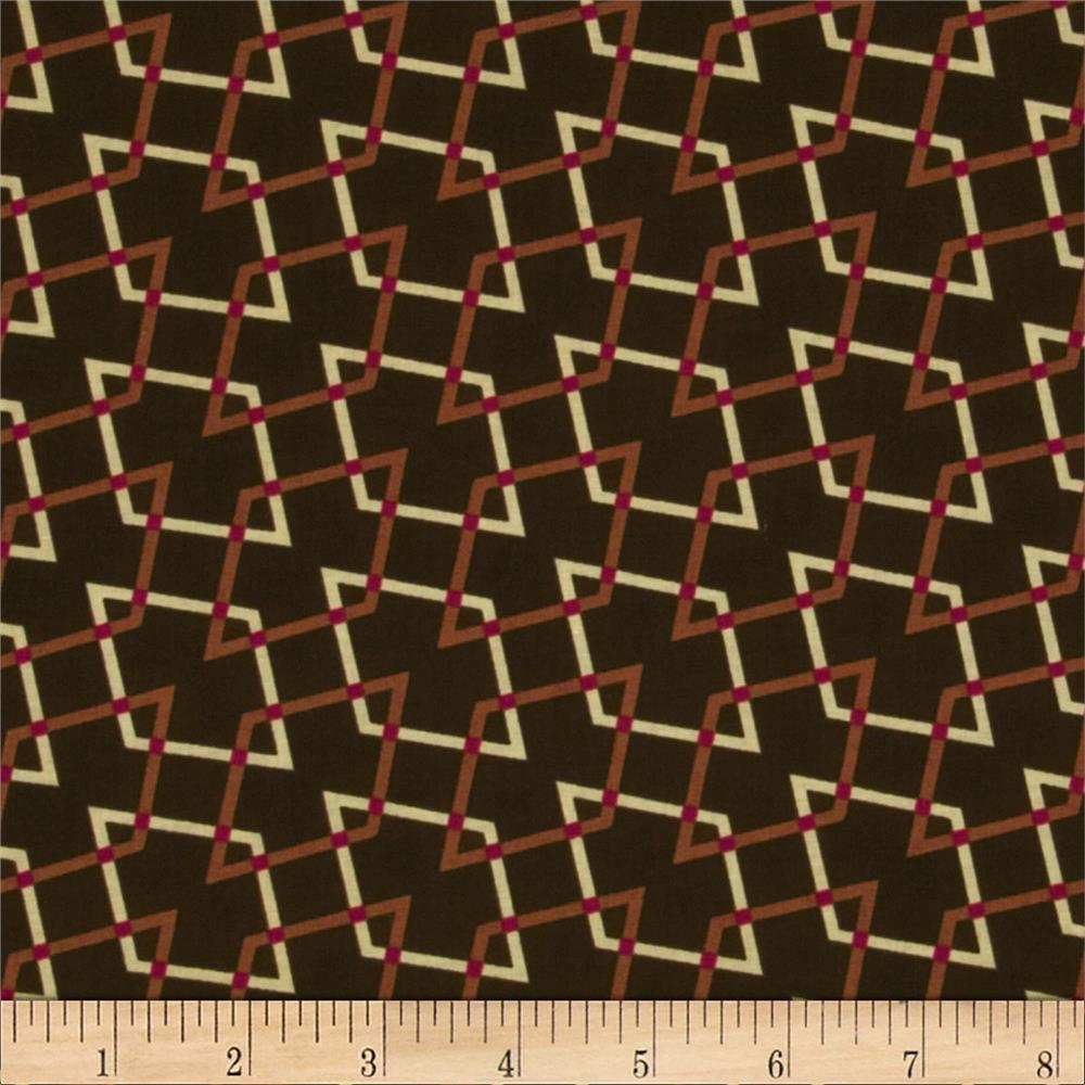 Retro Geo Parallelograms Brown