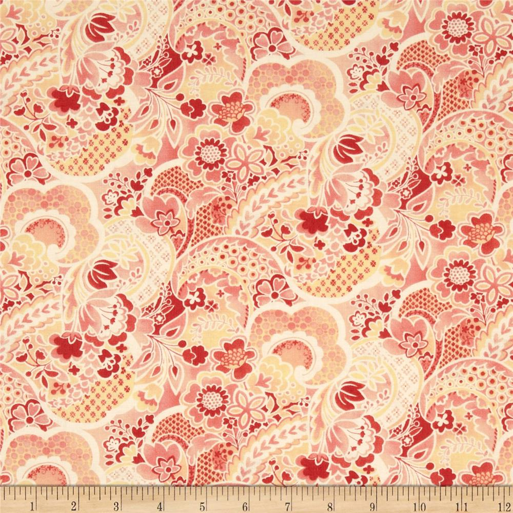 Moda Mimi Flower Collage Coral