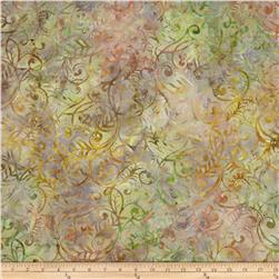 Batavian Batiks Scrolly Leaves Peach/Tan