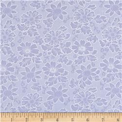 Burnout Voile Floral Purple