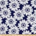 Jet Setter Large Flower Navy