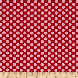 Dear Heart Polka Dot Red