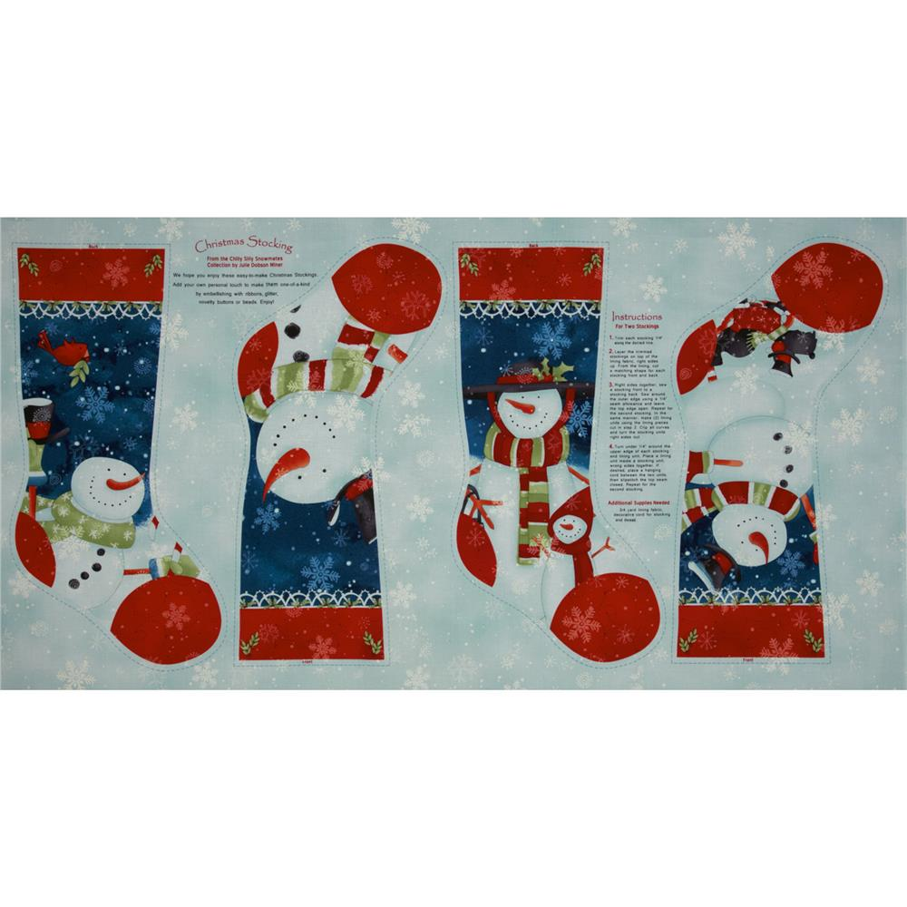 Chilly Silly Snowmates Socks Panel Blue