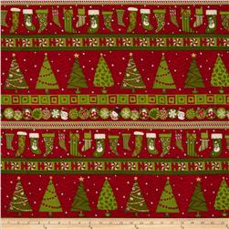 Ho Ho Holiday Repeating Stripe Multi