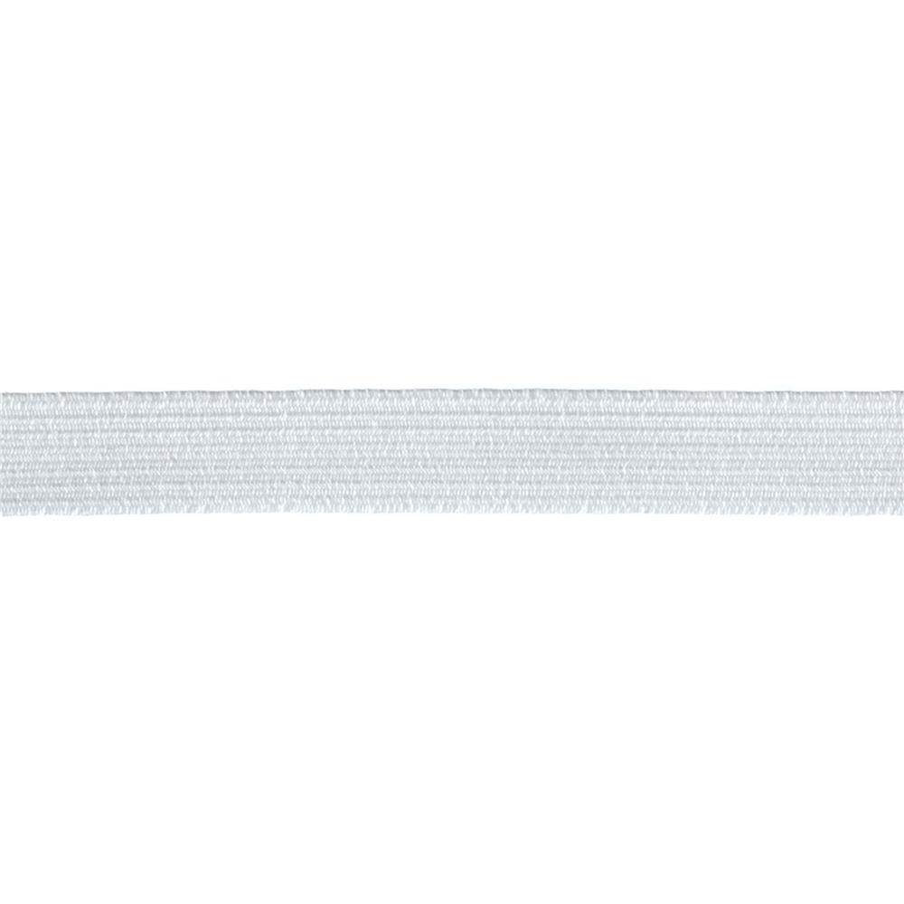 "1/2"" Braided Elastic White - By the Yard"