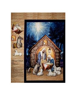 Susan Winget Blessed Birth 36 In. Panel Blue