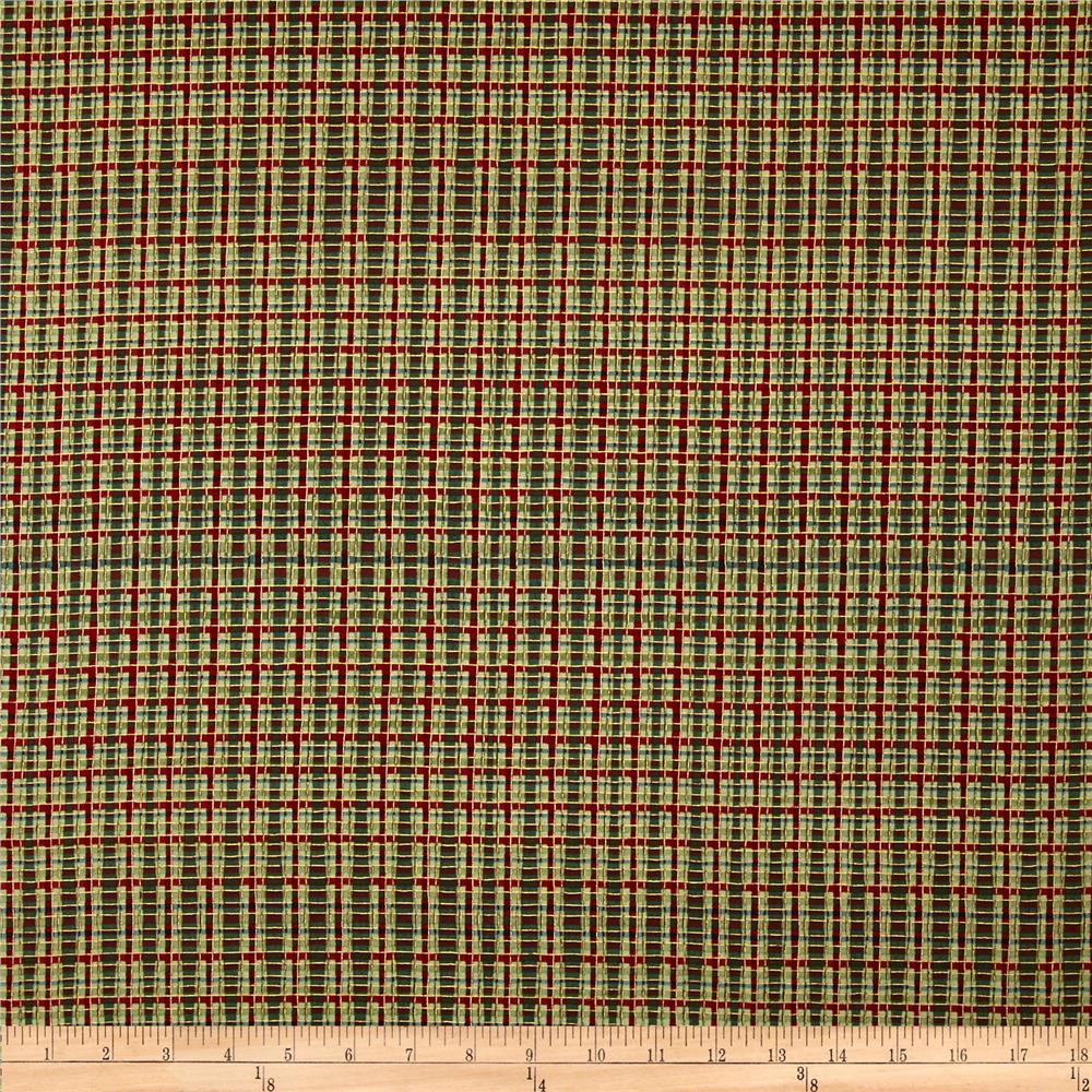 Dashing All The Way Plaid Metallic Christmas Red/Green