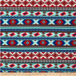 ITY Jersey Knit Aztec Blue/Mint/Red