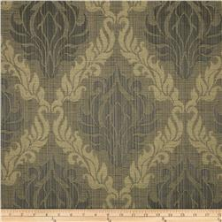 Leaves Quatrefoil Jacquard Tan/Grey