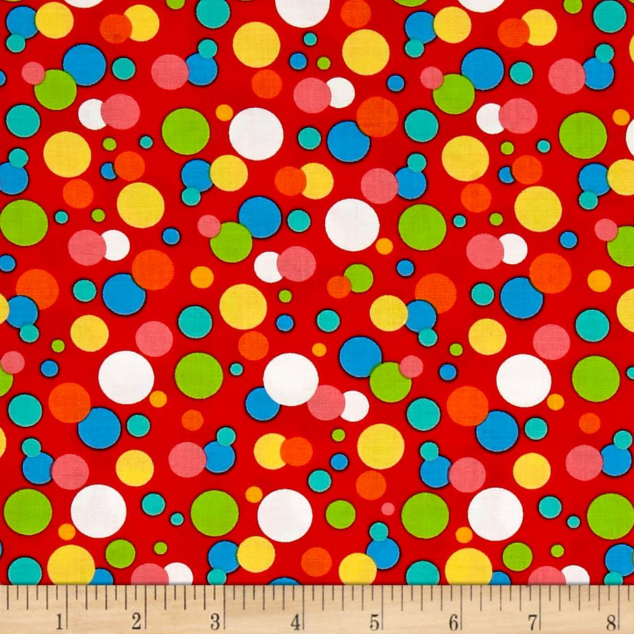Jesus Loves Me Dots Red