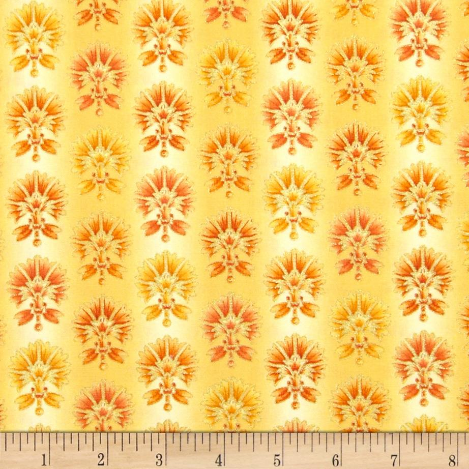 Joyful Blooms Metallic Ombre Blooms Yellow