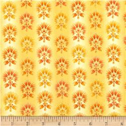 Joyful Blooms Metallic Ombre Blooms Yellow Fabric