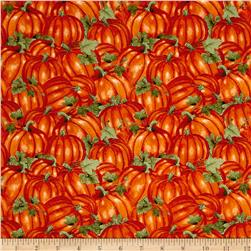Colors of Fall Packed Pumpkins Burnt Orange