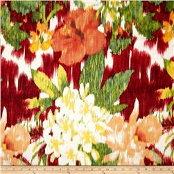 Cotton Voile Ikat Flower Orange