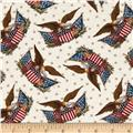 Hallmark  Eagles and Flags Cream
