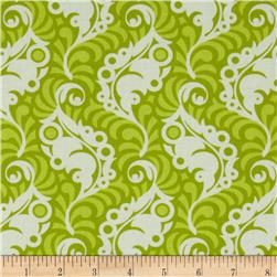 Heather Bailey Lottie Da Featherleaf Green Fabric