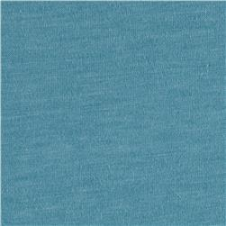 Cotton Poly Jersey Knit Solid Ash Blue