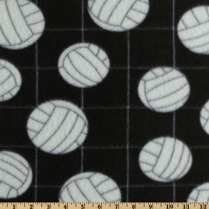 Novelty Fleece Volleyball Black