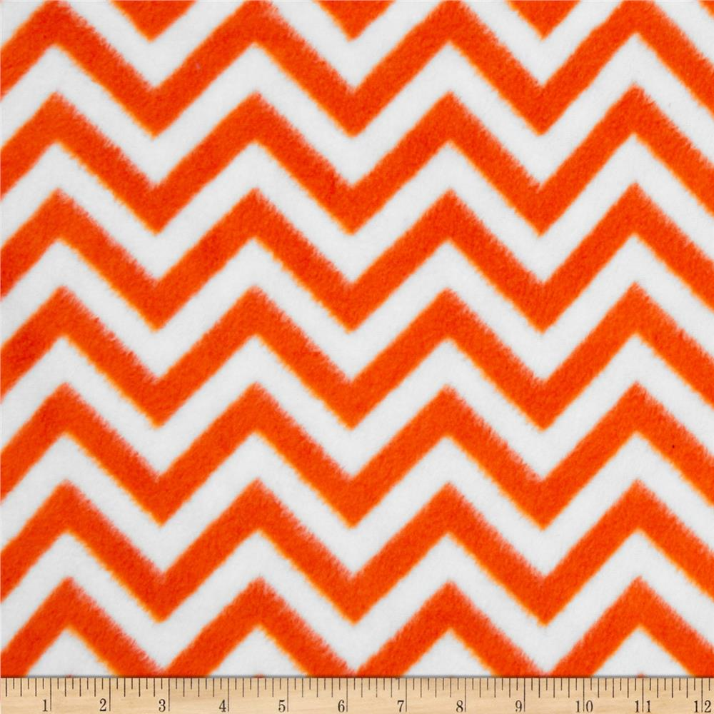 Fleece Chevron Bright Orange/White